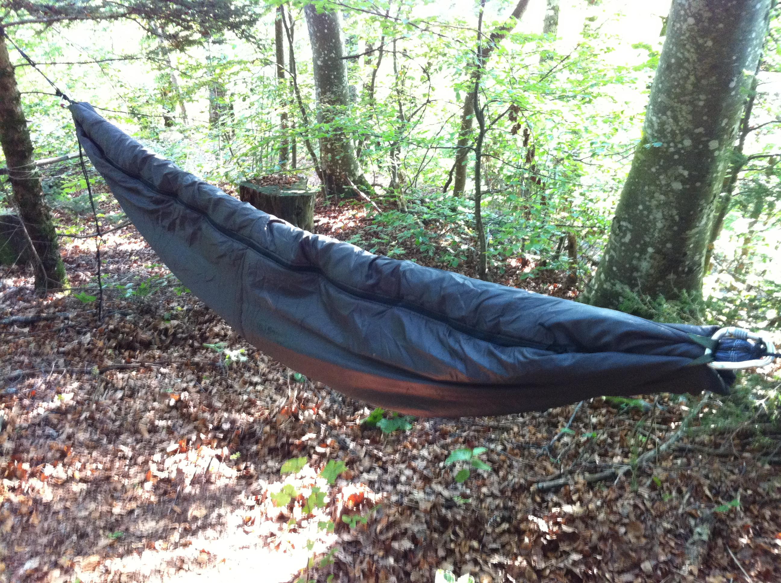 Revue du duvet «hammock cocoon» Snugpak – S'isoler en hamac !